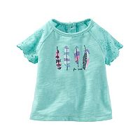 Baby Girl OshKosh B'gosh® Feather Eyelet Top