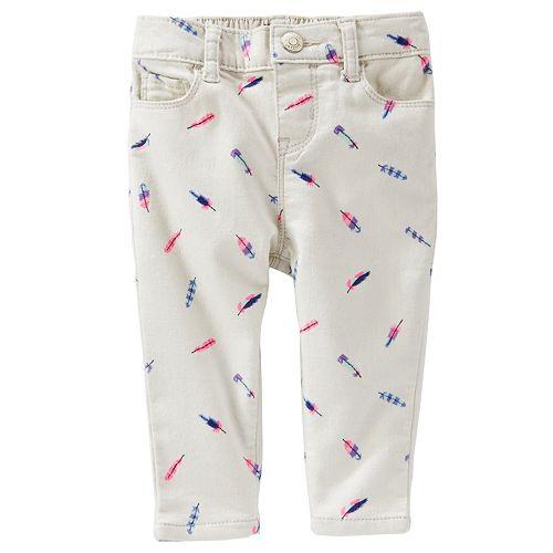 Baby Girl OshKosh B'gosh® Feather Twill Pants