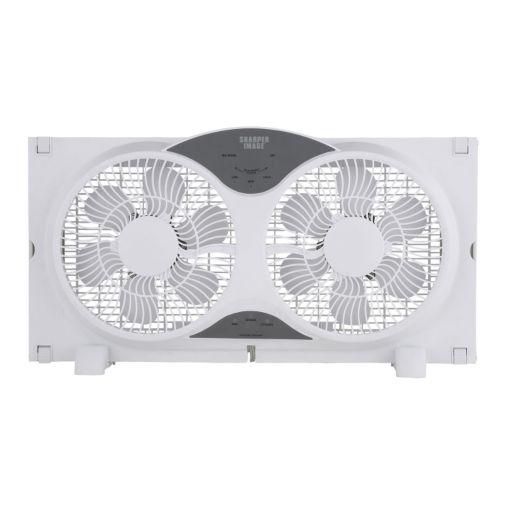 Sharper Image 9-Inch Window Fan with Remote