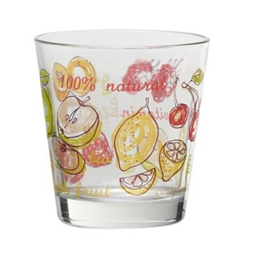 Global Amici Fresh Fruit 4-pc. Double Old-Fashioned Glass Set