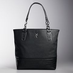 5f525c914155 Simply Vera Vera Wang Catherine Tote. Black Navy Wildflower Gray Rose Dark  ...