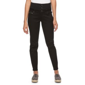 Juniors' Tinseltown High-Waisted Zipper Jeggings