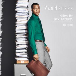 Men's Van Heusen Slim-Fit Lux Sateen No-Iron Dress Shirt