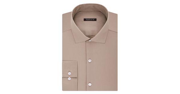 Men 39 s van heusen slim fit lux sateen no iron dress shirt for No iron slim fit dress shirts