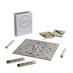 Scrabble Game Linen Vintage Bookshelf Edition by Winning Solutions by