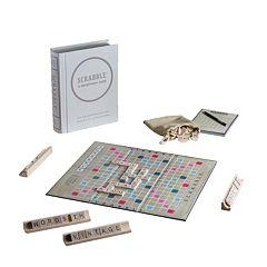 Scrabble Game Linen Vintage Bookshelf Edition by Winning Solutions
