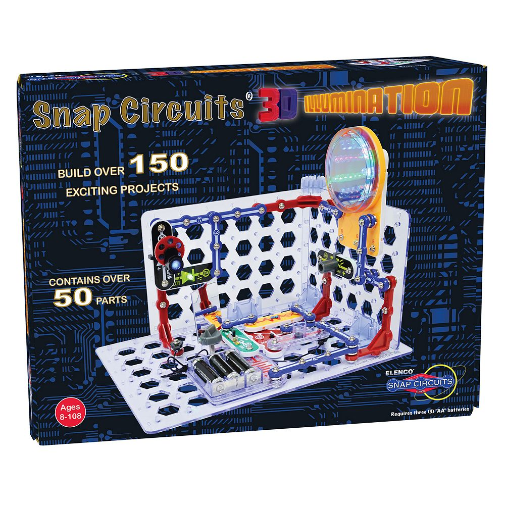 Snap Circuits 3d Illumination Set Elenco Sound