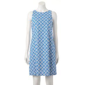 Women's M by Maia Geometric Shift Dress