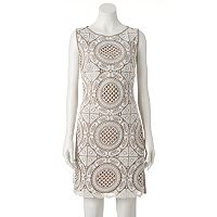 Women's Jax Geometric Crochet Sheath Dress