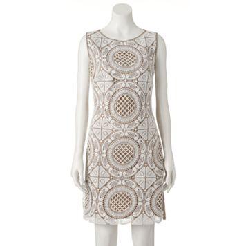 Women's Jax Geometric Crochet Sheath Dress