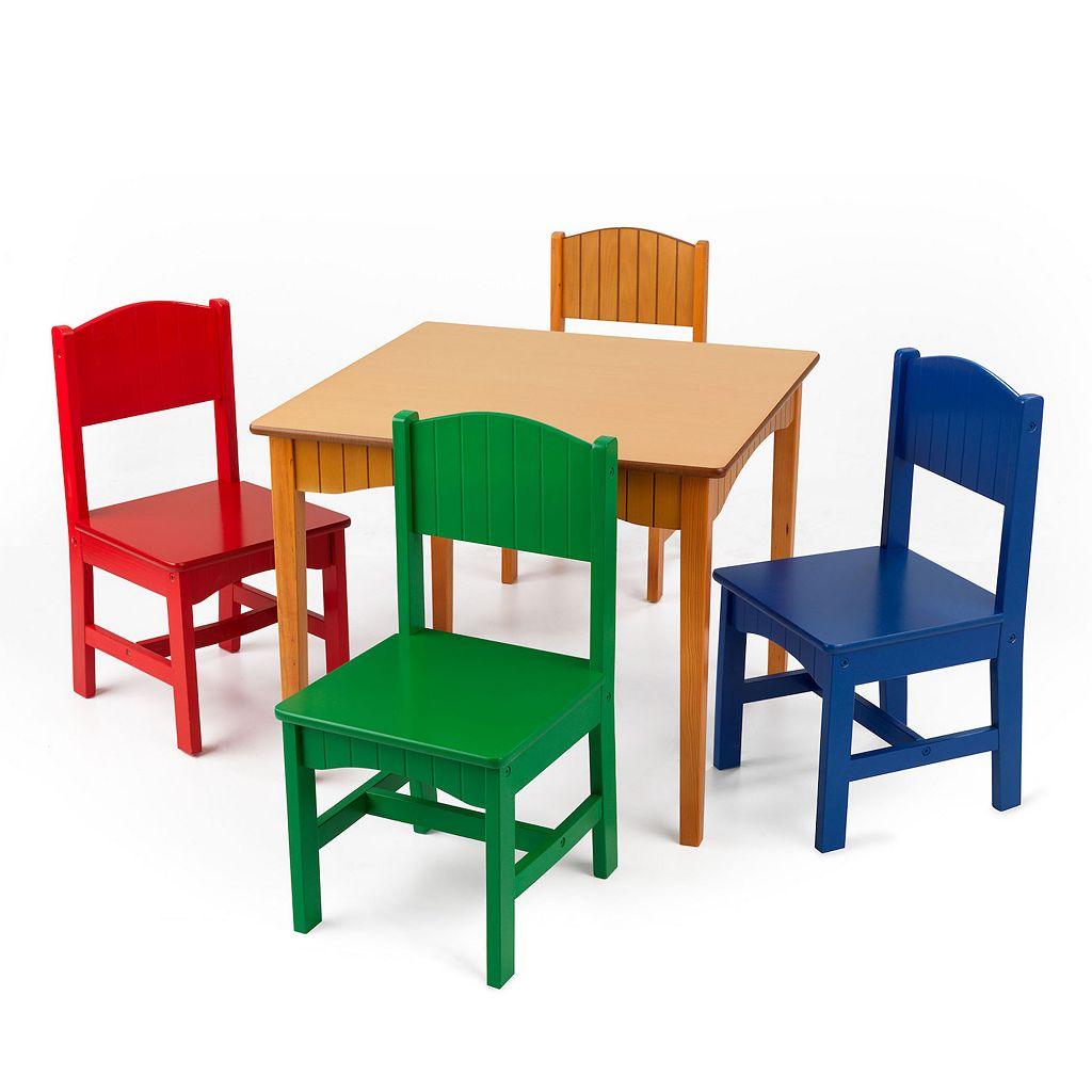 KidKraft Nantucket Table & Chair Set - Honey Finish