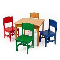 KidKraft Nantucket Table & Chair Set - Honey Finish