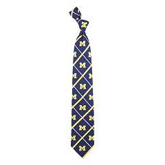 Adult NCAA Silver Line Silk Tie