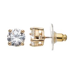 Dana Buchman Round Cubic Zirconia Stud Earrings