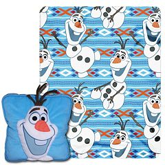 Disney's Frozen All About Olaf 3D Pillow & Throw Set