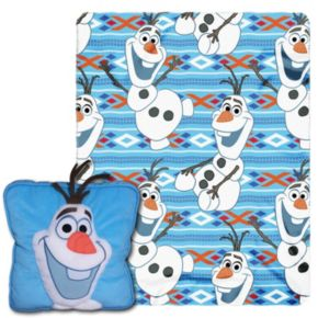 Disney's Frozen All About Olaf 3D Pillow & Throw Set
