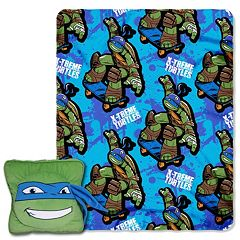Teenage Mutant Ninja Turtles Leo Maxin 3D Pillow & Throw Set