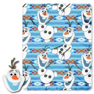 Disney's Frozen Big Face Olaf Pillow & Throw Set
