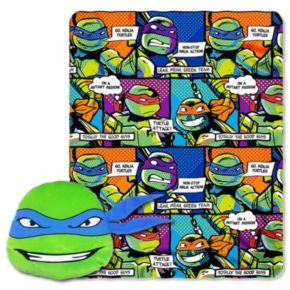 Teenage Mutant Ninja Turtles Good Guys Leo Pillow & Throw Set