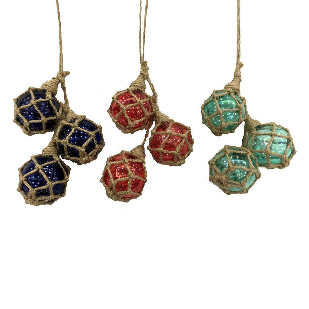 St. Nicholas Square® Coastal Twine Ball Christmas Ornament 3-piece Set