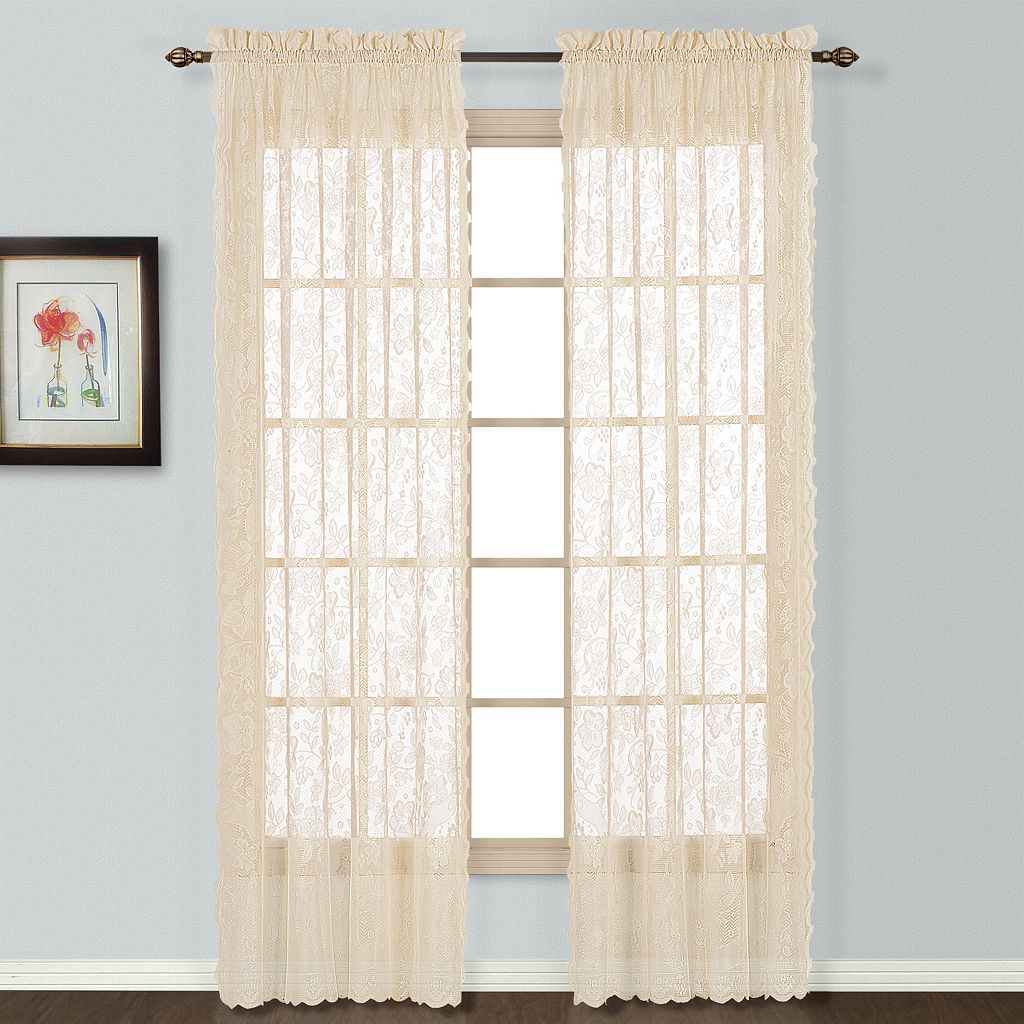 United Window Curtain Co. Windsor Lace Window Curtain