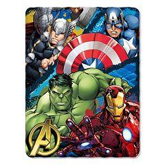 Marvel Defend Earth Fleece Throw