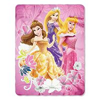 Princess Shining Flowers Fleece Throw