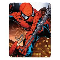 Spiderman Web Swing Fleece Throw