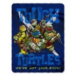 Teenage Mutant Ninja Turtles Tough Turtles Blues Fleece Throw