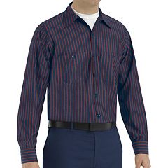 Men's Red Kap Striped Work Shirt