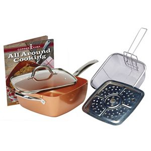 Nuwave Nutrimaster Slow Juicer : As Seen on Tv 10-pc. Red Copper Cookware Set Fashion Design Style