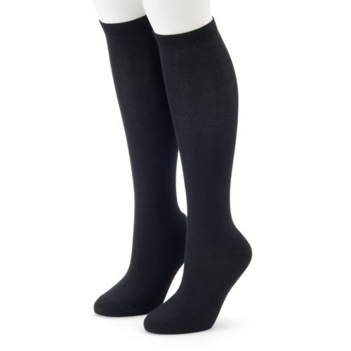 Women's SONOMA Goods for Life™ 2-pk. Solid Knee-High Socks