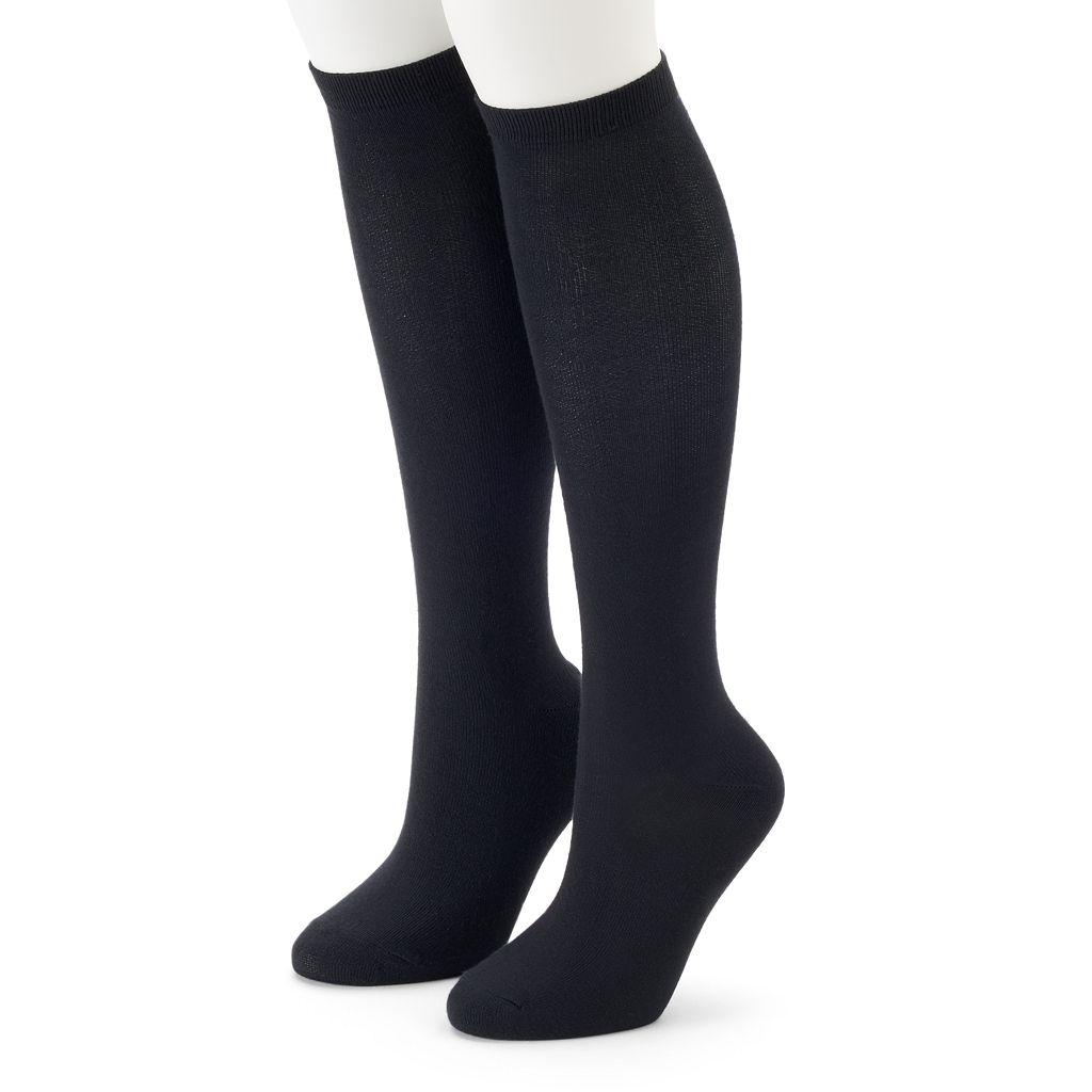 Women's SONOMA Goods for Life™ 2-pk. Solid Knee-High Socks