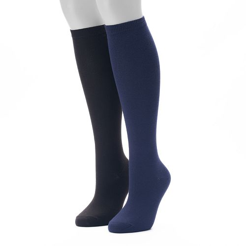Women's SONOMA Goods for Life® 2-pk. Solid Knee-High Socks