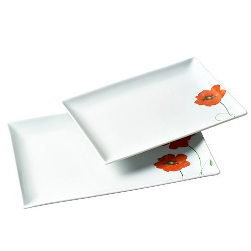 Gallery Poppy 2-pc. Rectangular Serving Tray Set