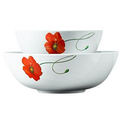 Gallery Poppy 2-pc. Round Serving Bowl Set