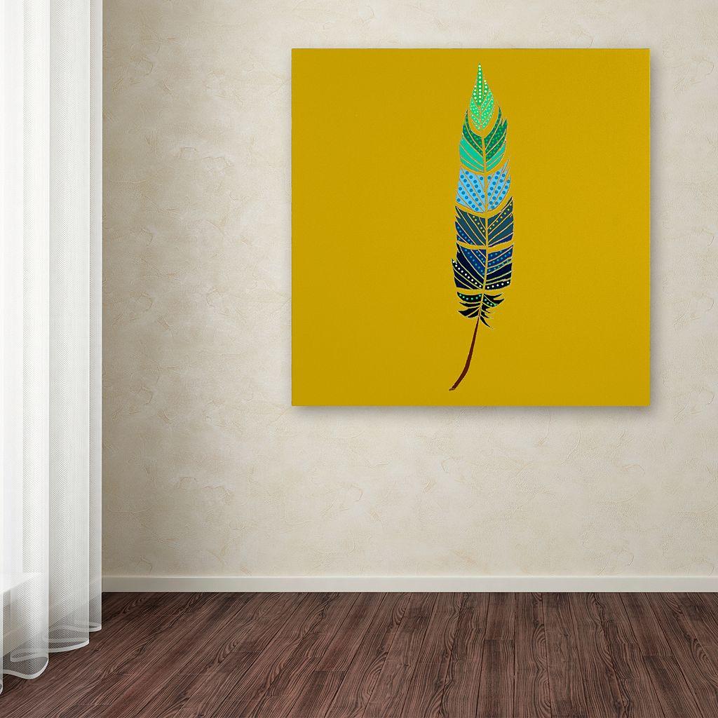 Trademark Fine Art Plume 2 Canvas Wall Art