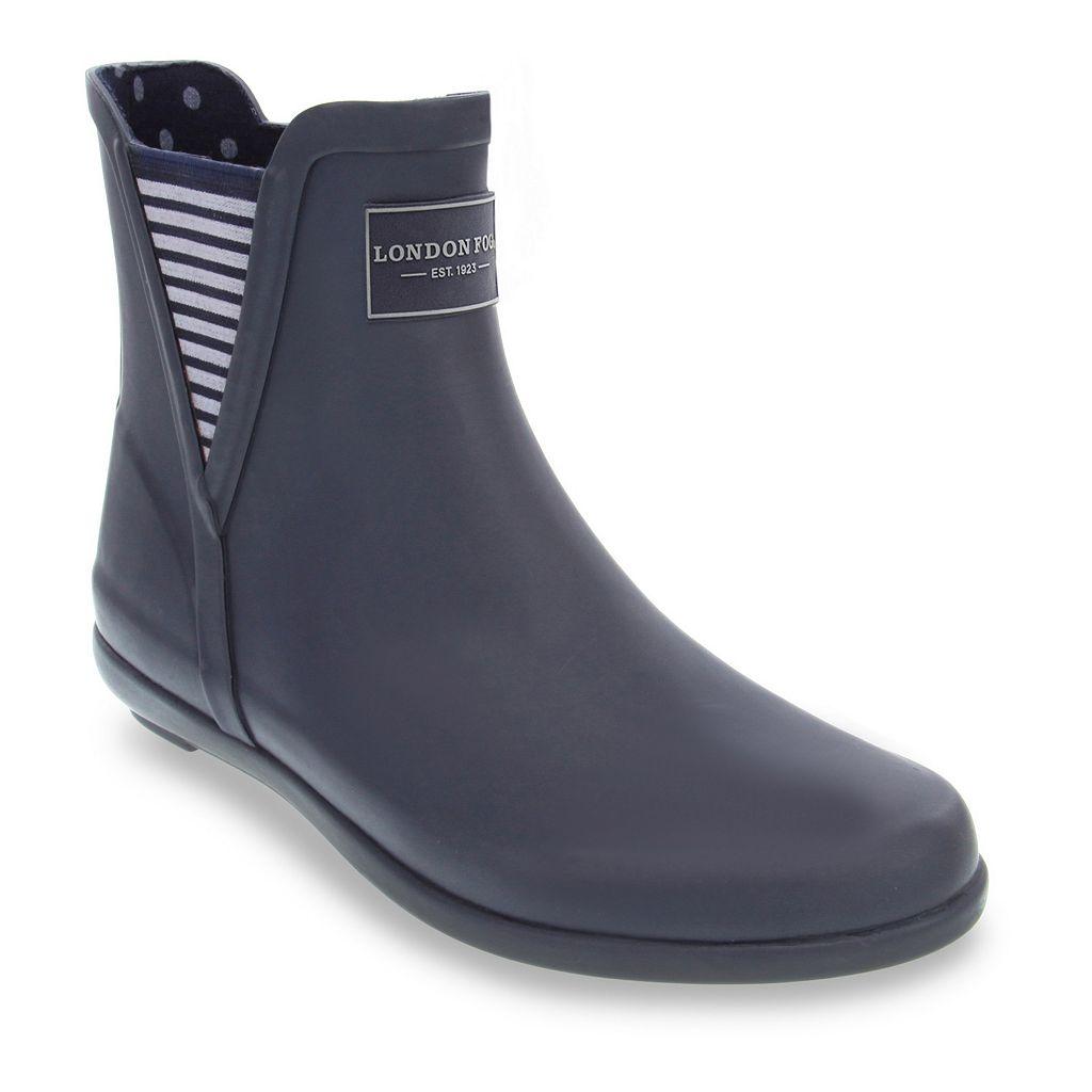 London Fog Piccadilly Women's Chelsea Waterproof Rain Boots