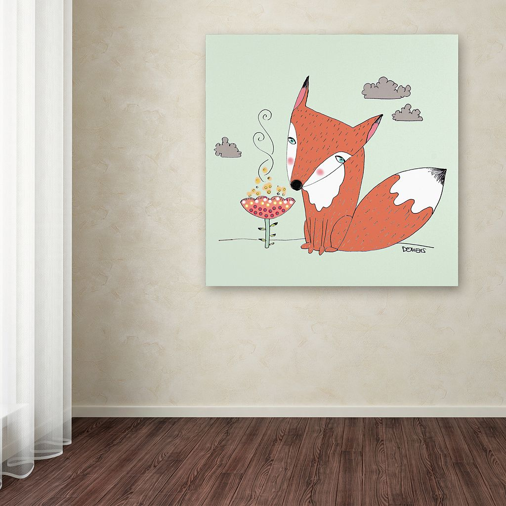 Trademark Fine Art Un Renard Dans La Cours Canvas Wall Art