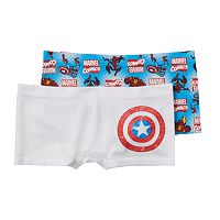 Girls 6-16 Marvel Captain America 2-pk. Seamless Boyshorts