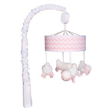 Trend Lab Pink Sky Lamb Musical Mobile