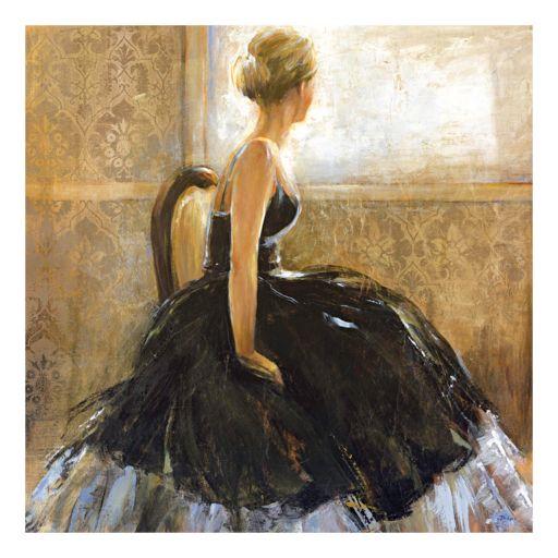 Girl in Dress Canvas Wall Art
