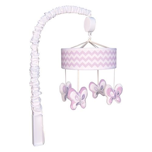Trend Lab Orchid Bloom Butterflies Musical Mobile