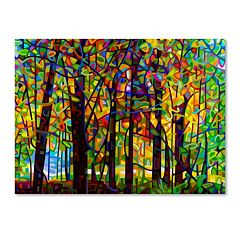 Trademark Fine Art Standing Room Only Canvas Wall Art
