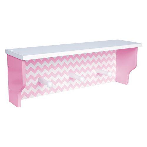 Trend Lab Pink Sky Nursery Chevron Shelf