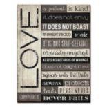 """Love is Patient"" Wood Plank Wall Art"