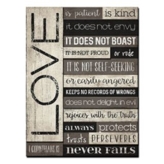 """Love is Patient"" Wood Plank Wall Art"