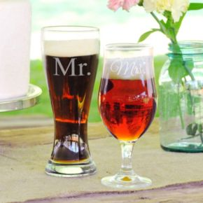Cathy's Concepts Couples 2-pc. Pilsner Glass Set