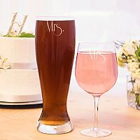 Cathy's Concepts 2-pc. Couples Pilsner & Wine Glass Set