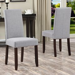 Simpli Home Acadian Parson Dining Chair 2-piece Set